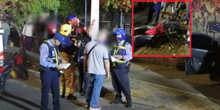 accidente sabaneta vegas moto carro 16 2020