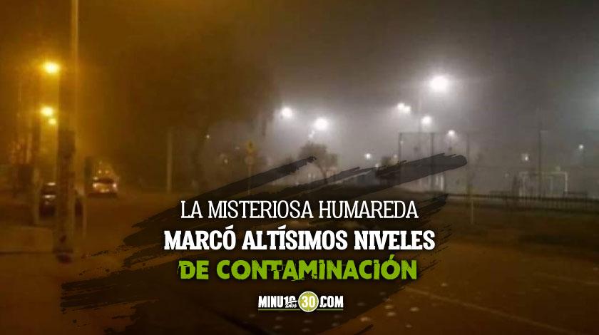 capa de humo cubrio varias zonas de Bogota y no habian incendios o quemas