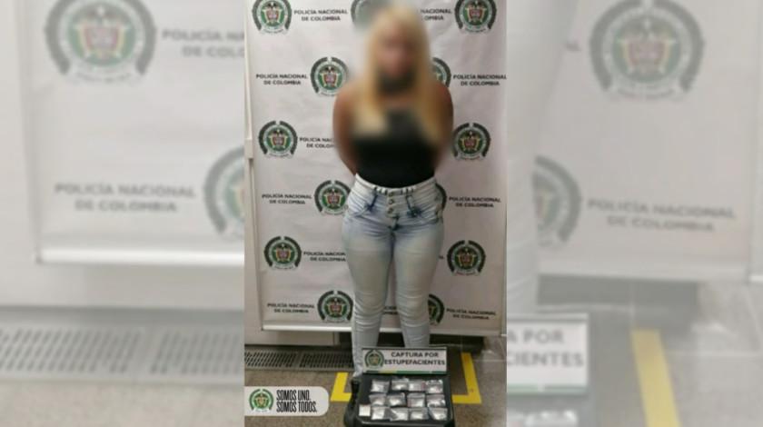 capturada en el metro de Medellin con droga mujer noticias