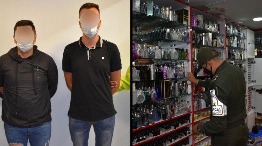 capturados por vender replicas de lociones