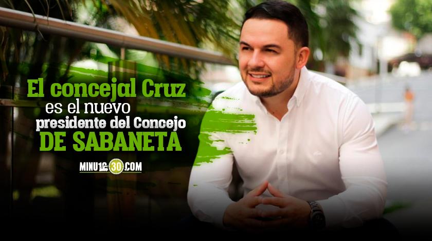 Alder Cruz, nuevo presidente del Concejo de Sabaneta