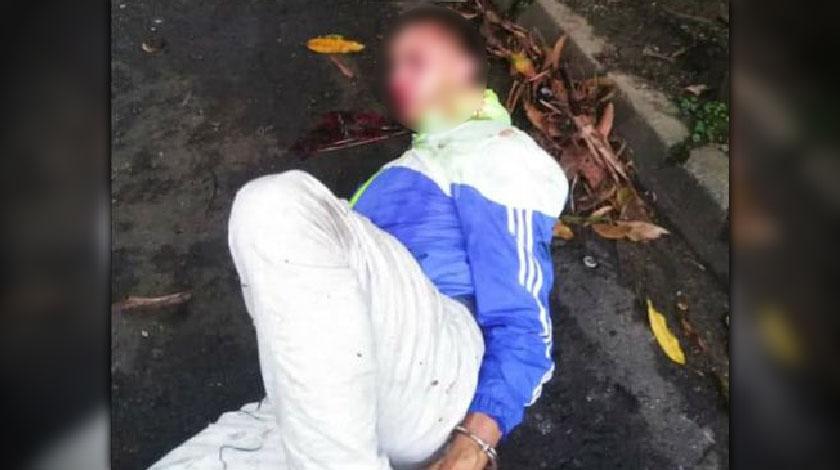Captura de presunto ladron en Manila