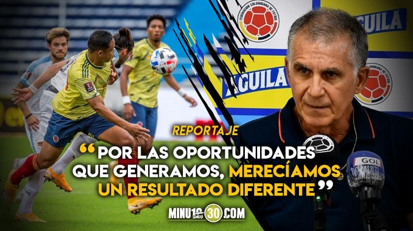 Carlos Queiroz asumio responsabilidad de derrota de Colombia pero invito a levantar cabeza