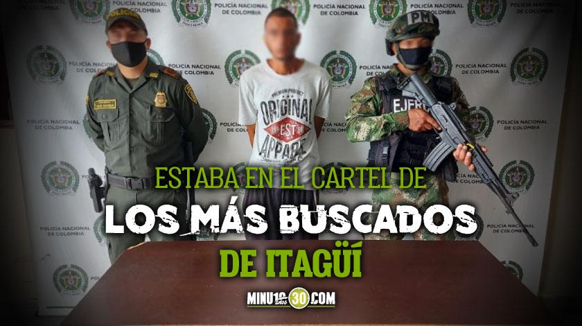 Cogieron a alias Mortis un presunto sicario de los mas buscados en la vereda Ajizal de Itagui
