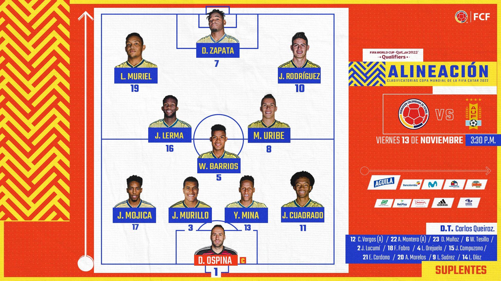 Nominas de Colombia vs Uruguay 1