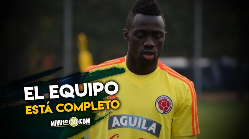 Por fin Davinson Sanchez se sumo a la Seleccion Colombia