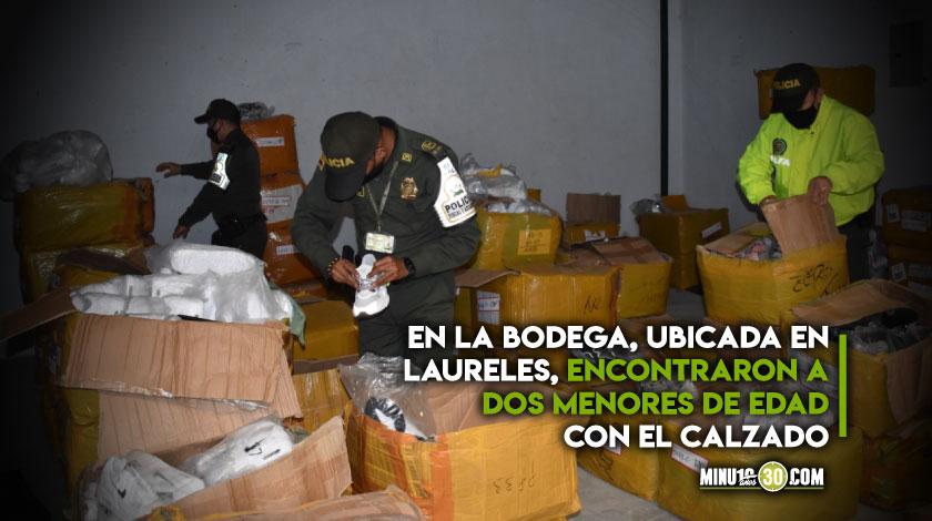 Se cayo la merca Encuentran mas de 7.000 tenis triple A de contrabando en Medellin