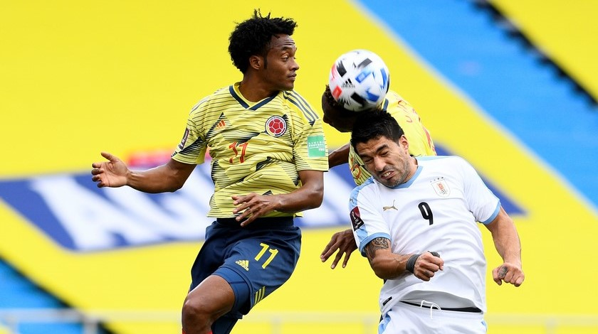 Seleccion Colombia vs Uruguay en la Eliminatorias 1
