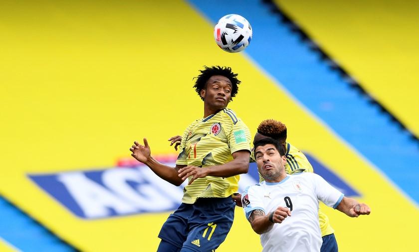 Seleccion Colombia vs Uruguay en la Eliminatorias 2