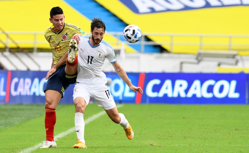 Seleccion Colombia vs Uruguay en la Eliminatorias 4