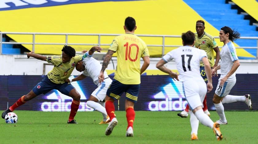 Seleccion Colombia vs Uruguay en la Eliminatorias 9
