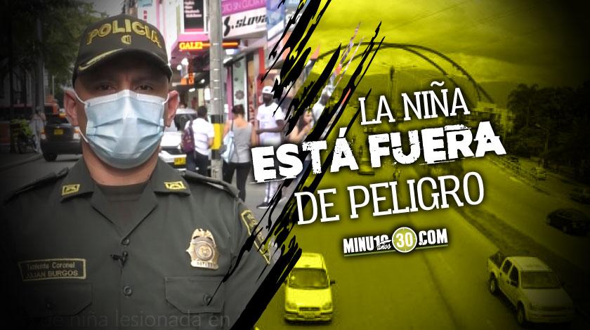 Una nina de 5 anos fue impactada por una bala en medio de un procedimiento policial por la Nacional