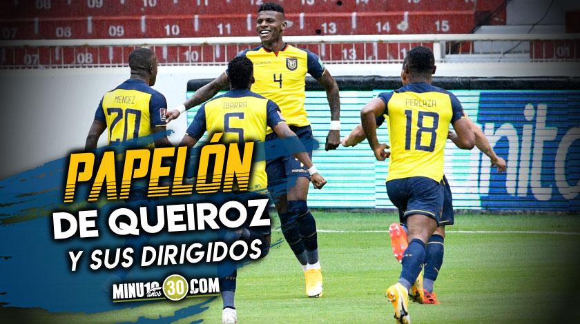 Verguenza Ecuador goleo a Colombia en Quito