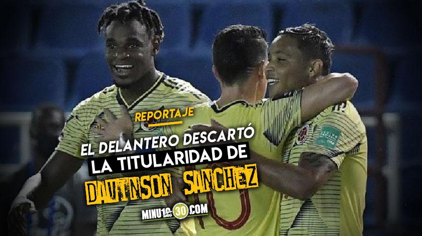 Zapata lamento las bajas de Colombia pero siente que hay con quien suprirlas bien