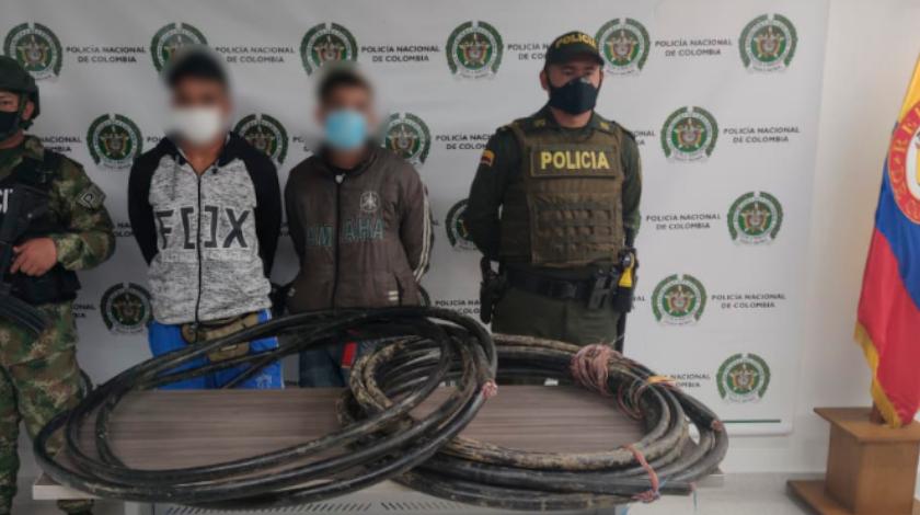 capturados por robo de cable