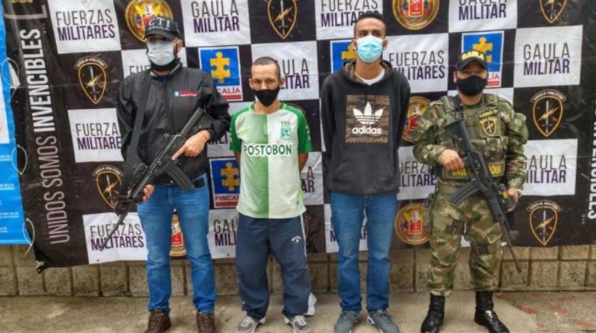 presuntos secutradores en Medellin