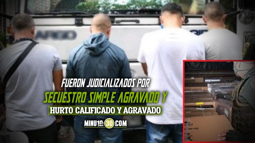 A la carcel cuatro investigados por hurto de un camion cargado con electrodomesticos