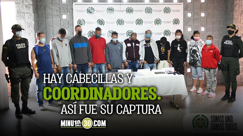 Lo que se sabe de los 35 capturados en Medellin que delinquian en diferentes combos
