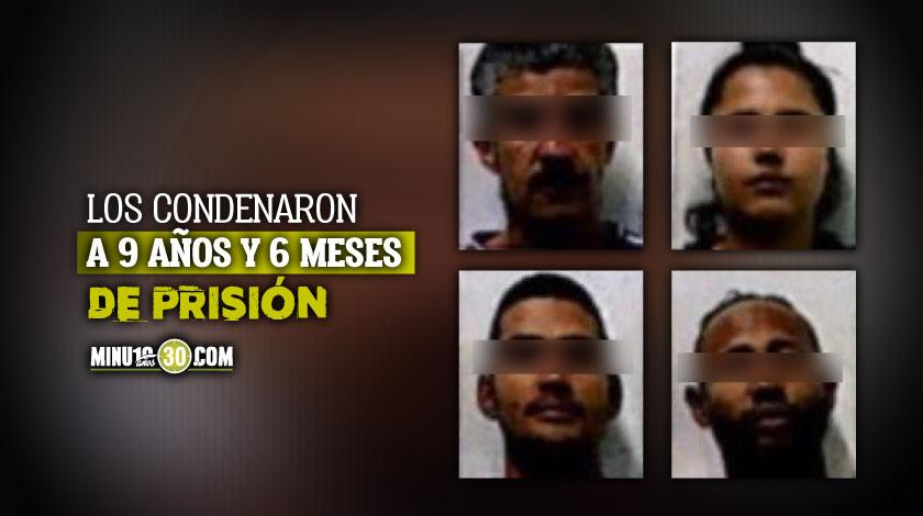Condenados tres hombres y una mujer que fueron sorprendidos con armas de