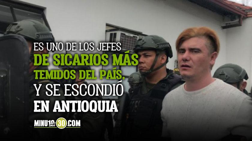 Se habia volado Capturan en Envigado a alias Pichi considerado el Pablo Escobar de Santander