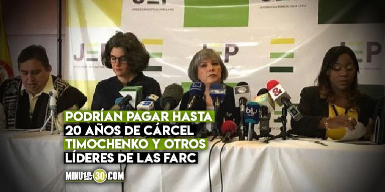 JEP imputo al antiguo secretariado de las FARC por crimenes de lesa humanidad