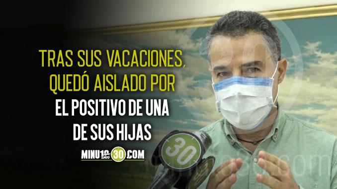 Por estar aislado Anibal Gaviria aun no asume como gobernador de Antioquia