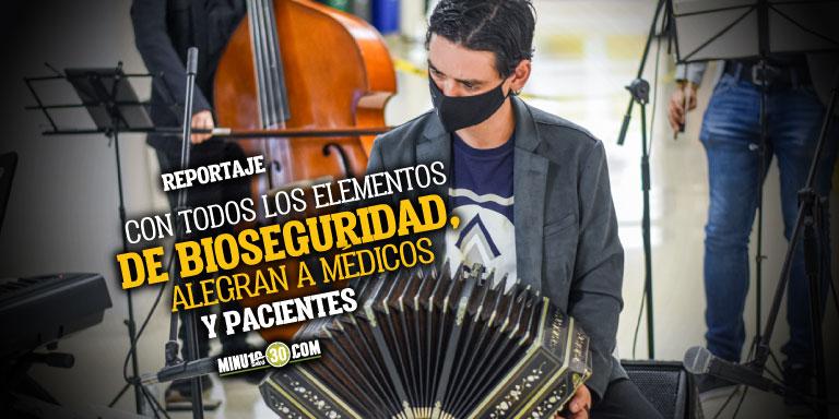 Que hermoso Musicos de Medellin vuelven a llenar de esperanza los hospitales de la ciudad