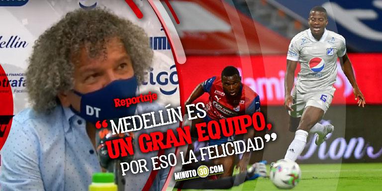 Alberto Gamero se fue muy contento con el punto que se llevo de Medellin