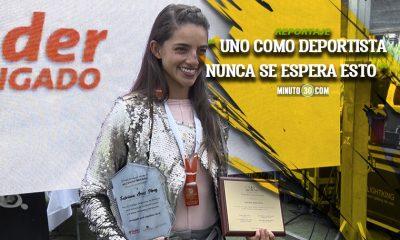 Fabriana Arias recibio homenaje por ser la mejor patinadora de America en los World Games