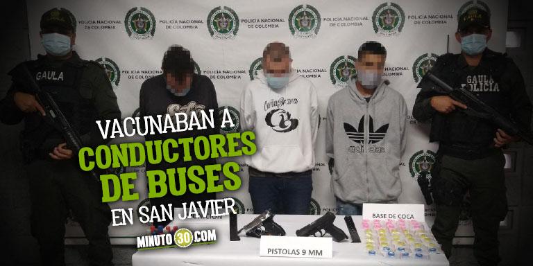 Grupo Tactico de Antiextorsion comenzo a dar resultados capturando a tres hombres que vivian de las vacunas