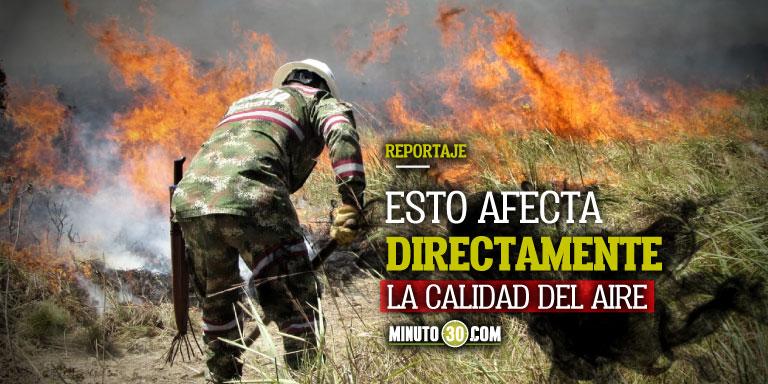 Impresionante Este ano van mas de 600 incendios en el pais y en el Valle de Aburra van minimo 30