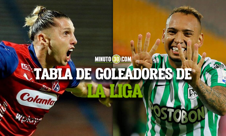 Jugadores de Medellin y Nacional se pelean primer lugar entre los goleadores