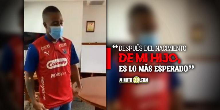 Kevin Londono se vistio entre lagrimas la camiseta de Independiente Medellin