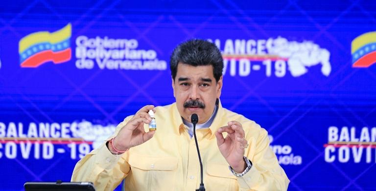 Maduro presenta unas gotas milagrosas que neutralizan el coronavirus