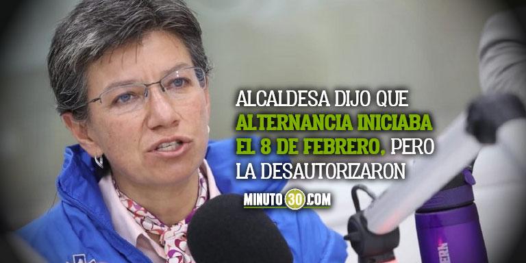 Minsalud desmiente a Claudia Lopez y dice que no ha autorizado el regreso a las clases presenciales