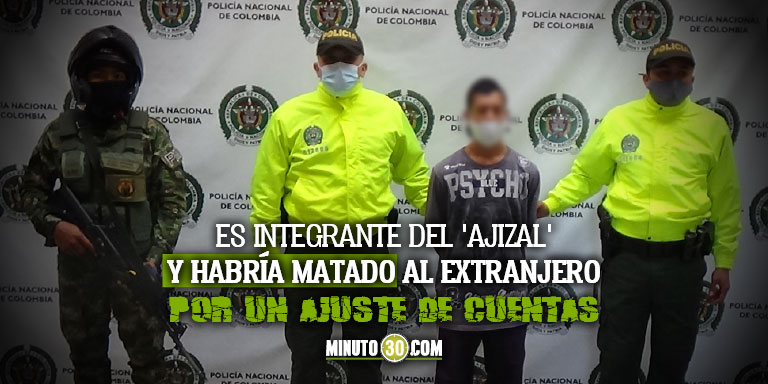 Policia capturo a Pepe delincuente que al parecer asesino a un venezolano en Itagui 1