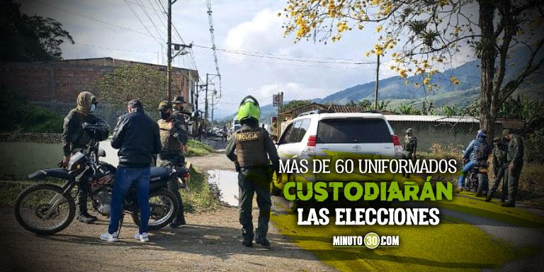 Video: Policía se prepara para la nueva jornada electoral en Urrao