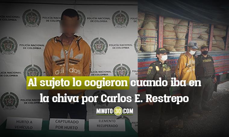 SE ROBO UNA CHIVA Y APUNALO AL CONDUCTOR