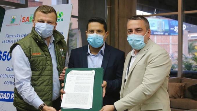 IDEA otorga un crédito a Sabaneta para mejoramiento del hospital, construcción de viviendas y arreglo de vías