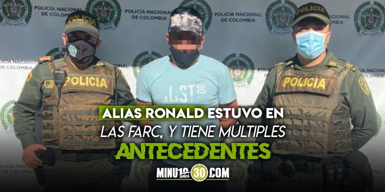 Vino a visitar a la familia En San Javier capturaron al tercer cabecilla de las disidencias en Ituango