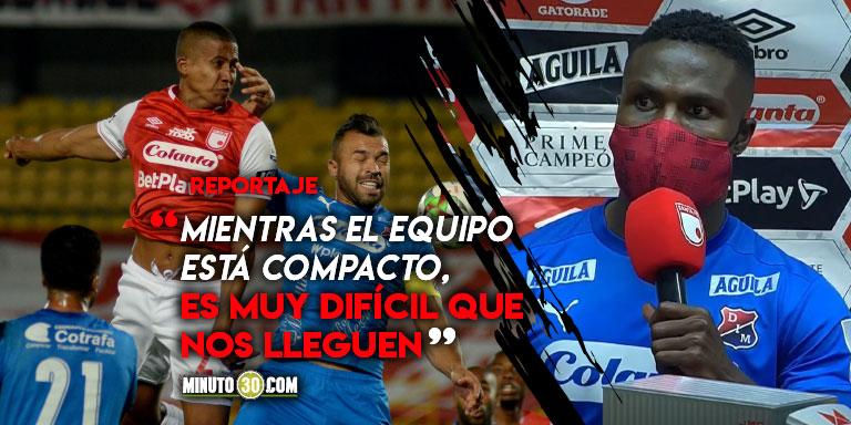 Yulian Gomez saca pecho por la solidez defensiva de Independiente Medellin