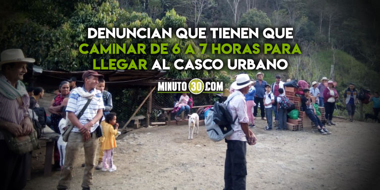 Campesinos de Ituango desplazados