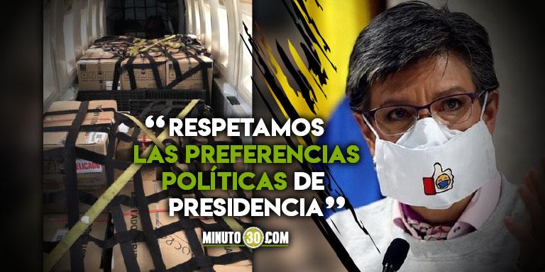 Fuerte descargo de Claudia López contra Presidencia porque aún no le dan las vacunas de Bogotá