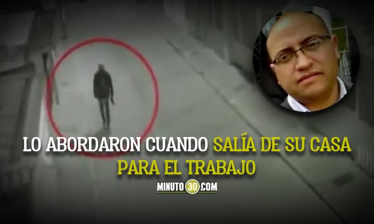 ladrones matan a vigilante que salia de casa