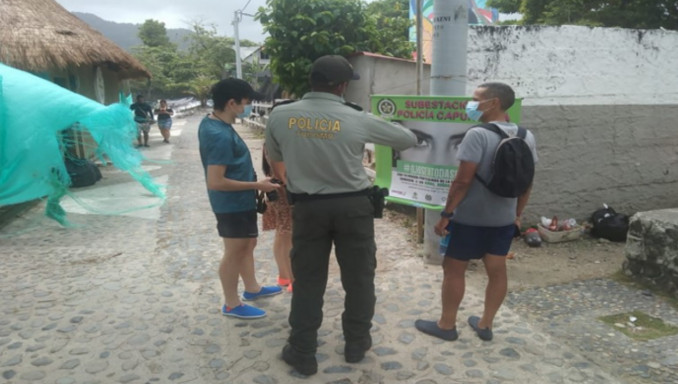 Policía en Urabá realiza campaña para la prevención del Covid - 19