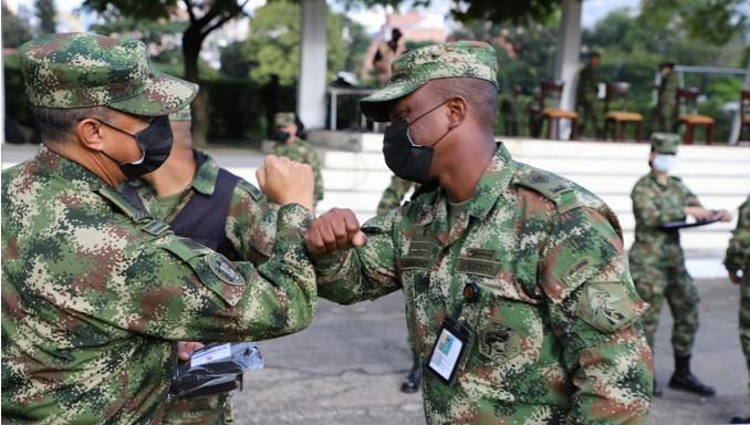 Militares de la Séptima División fueron visitados por el Comandante de Personal del Ejército Nacional