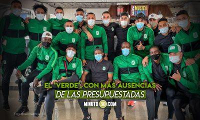 Atletico Nacional con varias bajas en la delegacion viajera hacia Paraguay