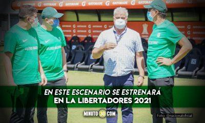 Atletico Nacional hizo reconocimiento del Estadio Defensores del Chaco