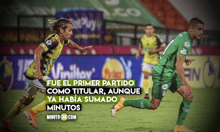 Aunque no marco goles Tomas Angel se llevo todos los elogios en redes por su debut en Nacional