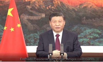 """""""Mis mejores deseos a Colombia; que supere la pandemia lo antes posible"""", mensaje del Presidente de China"""